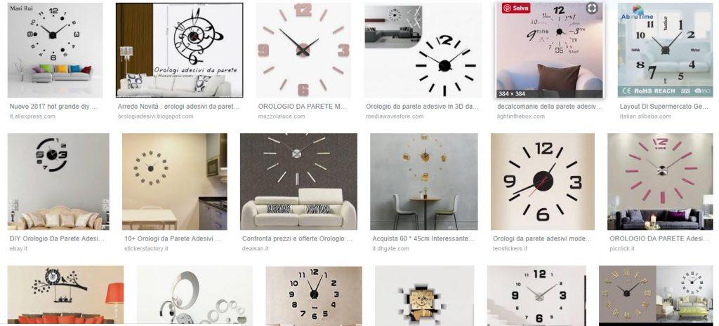 orologio da parete adesivo