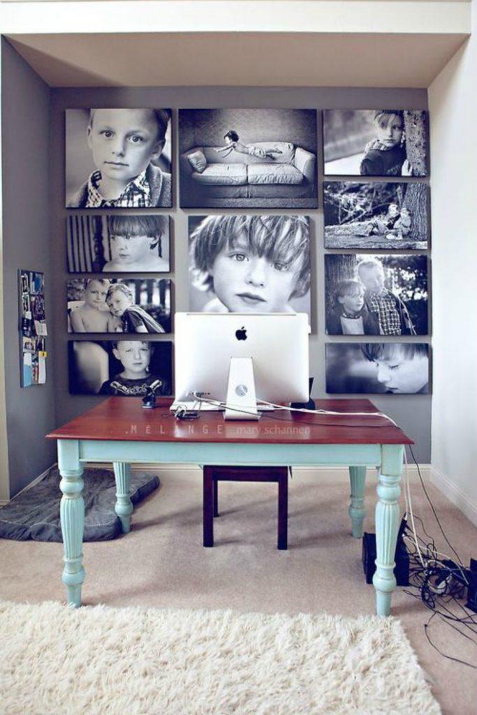 parete con foto